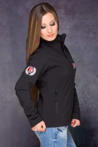 HRT Women Jacket Side in Black