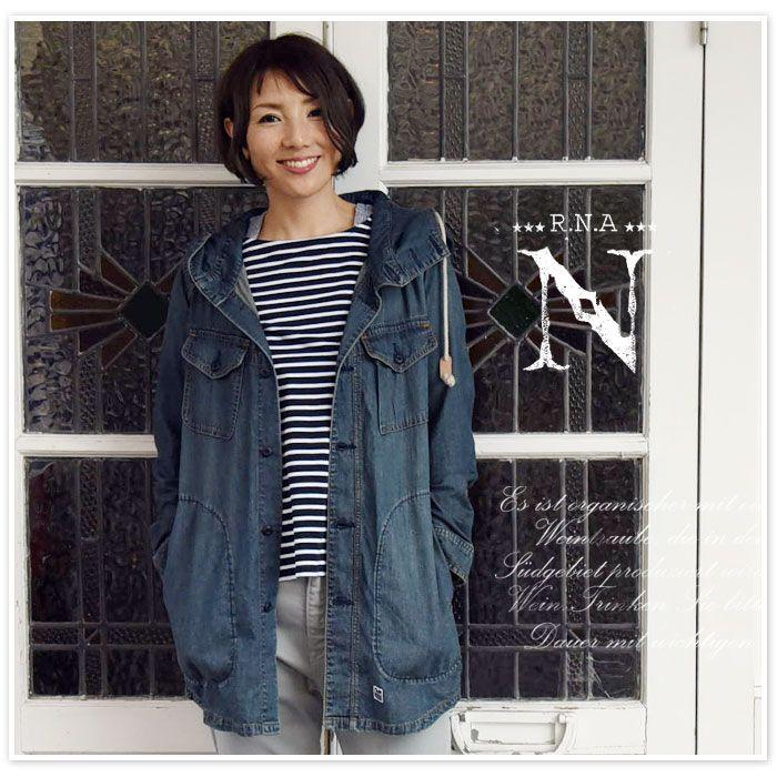 【R.N.A -n (rna) アールエヌエー】フード付 アーミー シャツ ワンピース (d1274)