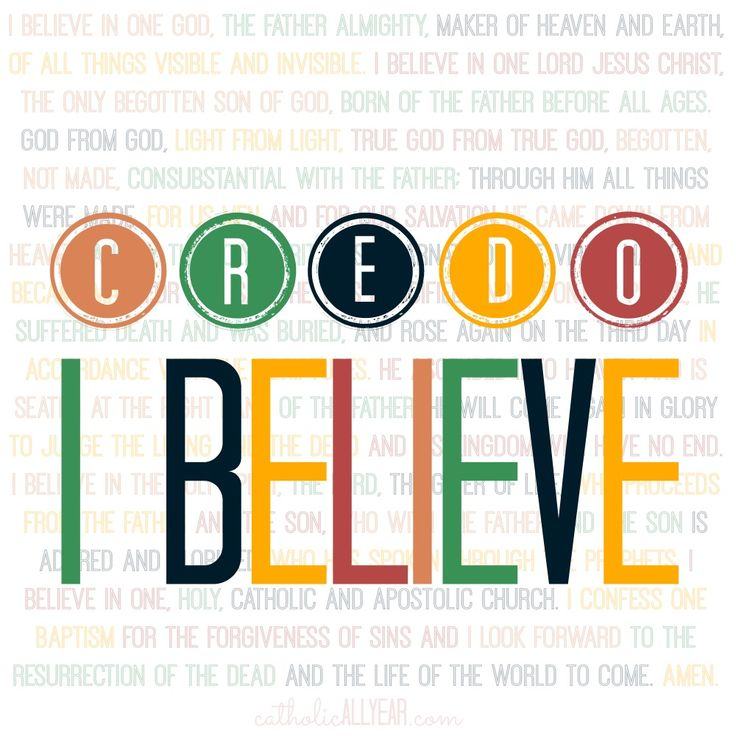 understanding creed in religion Should we accept as authority in religion the various creeds, creed books, and   if the bible was written in such a way that men could not understand it, then we.