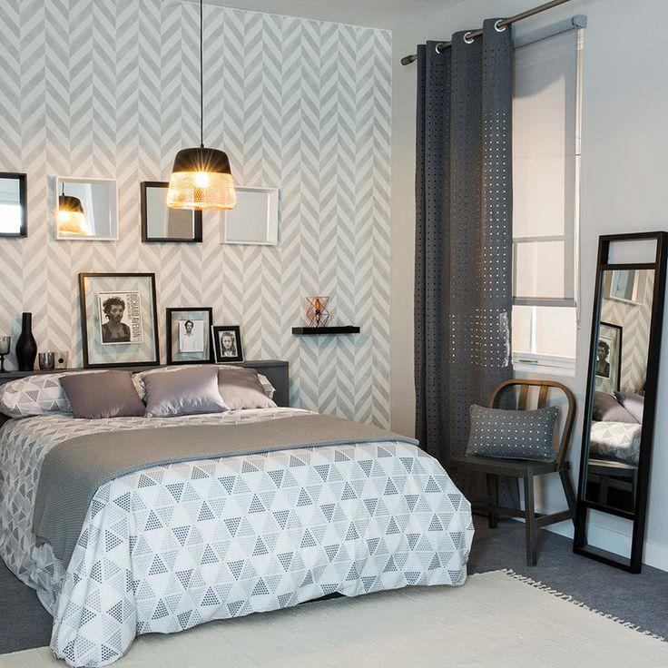 cmo decorar la pared de detrs de la cama