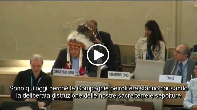 David Archambault II, capo della tribù degli Standing Rock Sioux, è intervenuto al Consiglio delle Nazioni Unite a Ginevra per denunciare tutti i...
