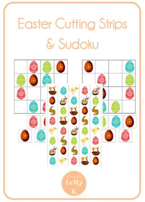 A little Easter Freebie - 2 Sudoku puzzles and cutting strips