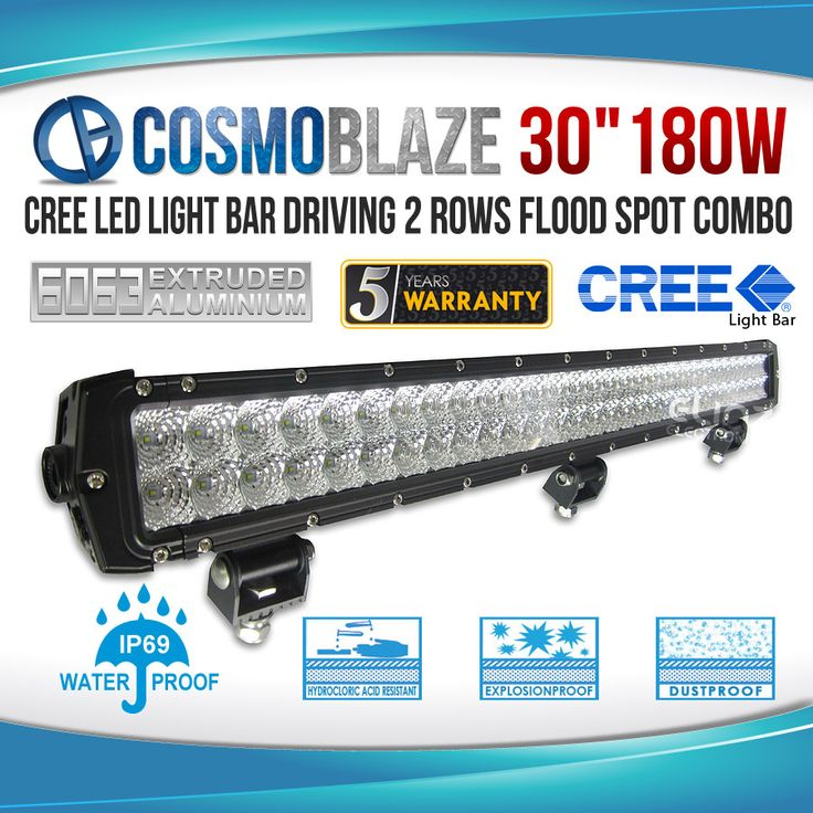 Cosmoblaze 180W Double Row Series CREE LED Light Bar: Driving Light You Can Rely On