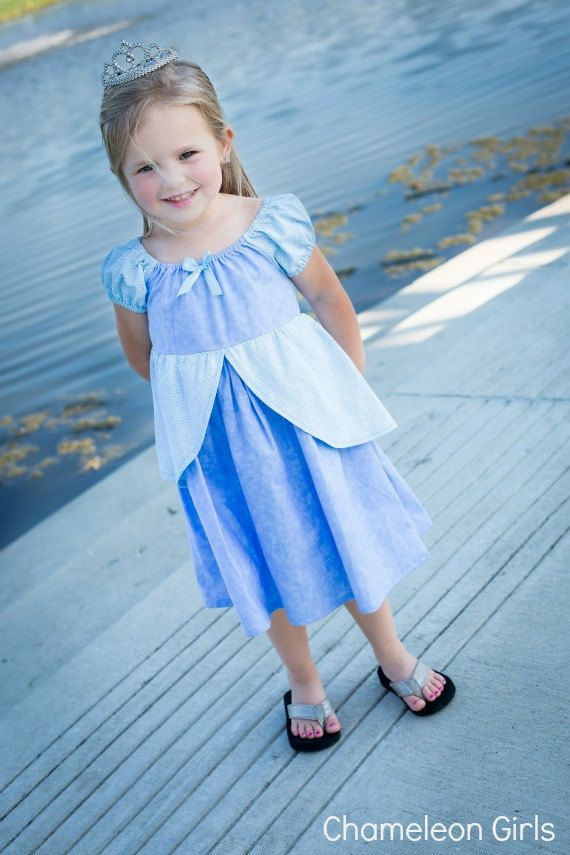 Cinderella Dress Disney Princess by ChameleonGirls on Etsy, $50.00 Made from simple dress pattern
