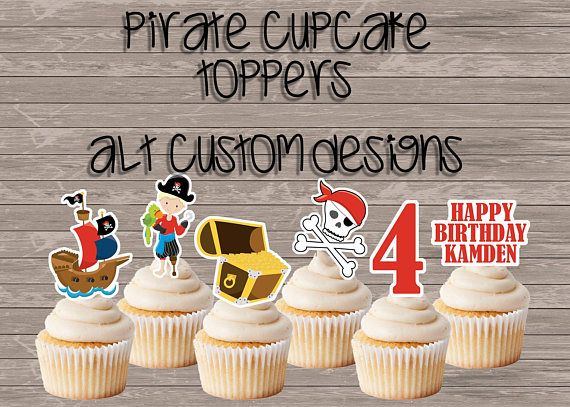 Hey, I found this really awesome Etsy listing at https://www.etsy.com/listing/565060261/pirate-birthday-cupcake-toppers-pirate