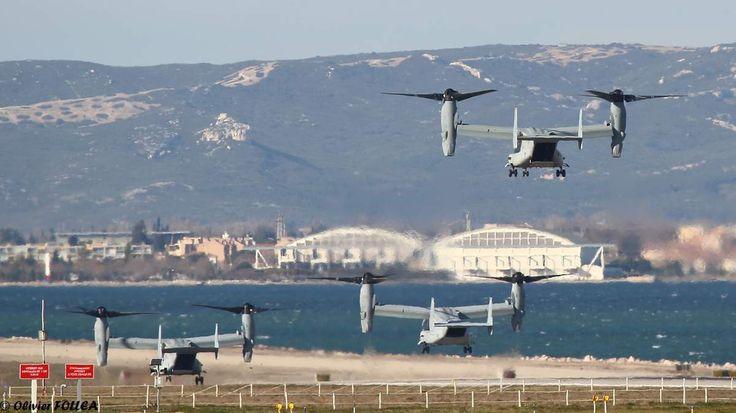PHOTOS - Des MV-22 Osprey de l'US Marine Corps à l'aéroport de Marseille