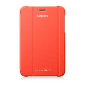 Oryginalne etui do Samsung Galaxy Tab 2 w wersji 7-calowej. Ochrania i zapewnia wygodę w codziennym użytkowaniu tabletu. Funkcja nachylenia ułatwia pisanie, oglądanie filmów lub zdjęć, gdziekolwiek jesteś.  Produkt w kolorze pomarańczowym.