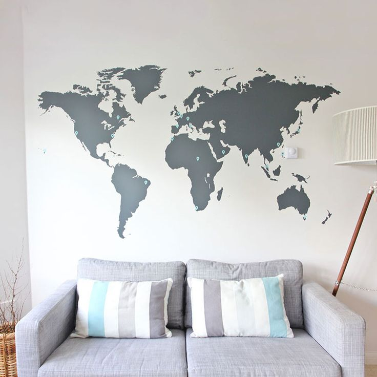 World Map Vinyl Wall Sticker in Office Wall Stickers by Vinyl Impression