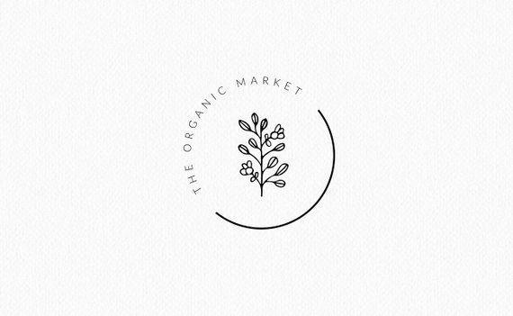 Premade Logo | Brand Design Kit | Organic Market Logo | Leaf logo | Logo Template | Home Decor Logo
