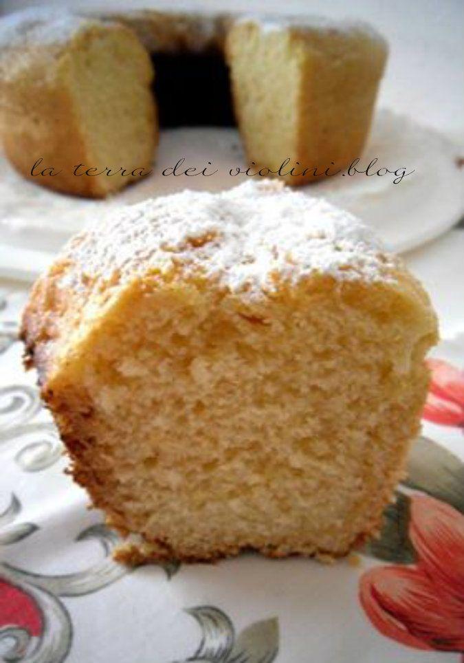 Ciambella alta al limone, un dolce goloso fatto con la Petronilla o Versilia