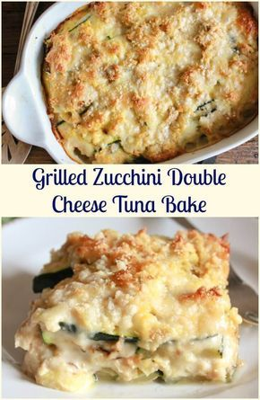 Grilled Zucchini Double Cheese Tuna Bake a delicious healthy, cheesy and creamy bake, the perfect family dinner, your new favourite. via @https://it.pinterest.com/Italianinkitchn/
