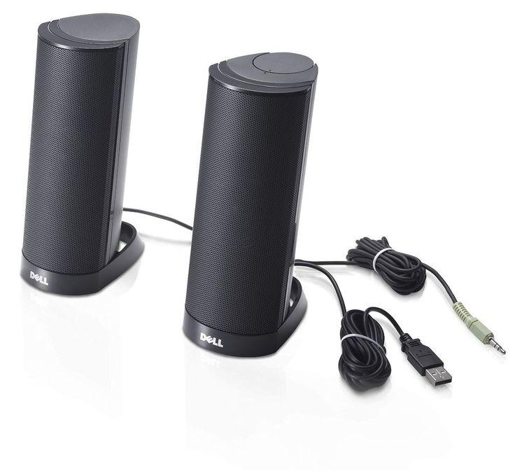 Dell Computer Speakers AX210 USB Stereo Speaker System Black Desktop Accessories #1