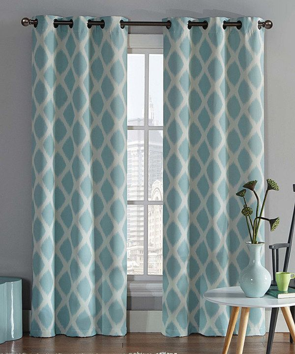Aqua Tribeca Blackout Curtain Panel Set Of Two Blackout Curtains Curtain Panels And Aqua