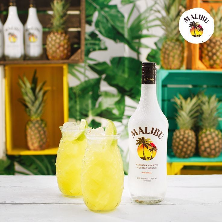 Maliburum Pineapple This Pool Party Game Changer Is As Refreshing As It Is Sweet Not To Ment Malibu Pineapple Summer Drinks Alcohol Alcohol Drink Recipes