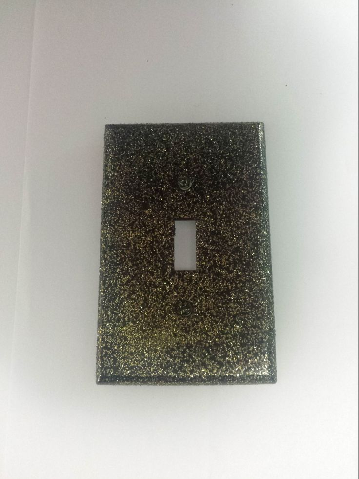 cute sparkly black w gold glitter decorative light switchplate cover wall lighting dcor - Decorative Outlet Covers