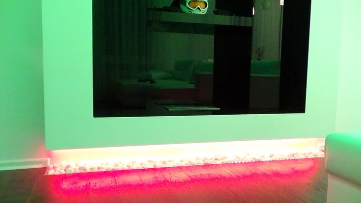 Светодиодная подсветка фальшь камина