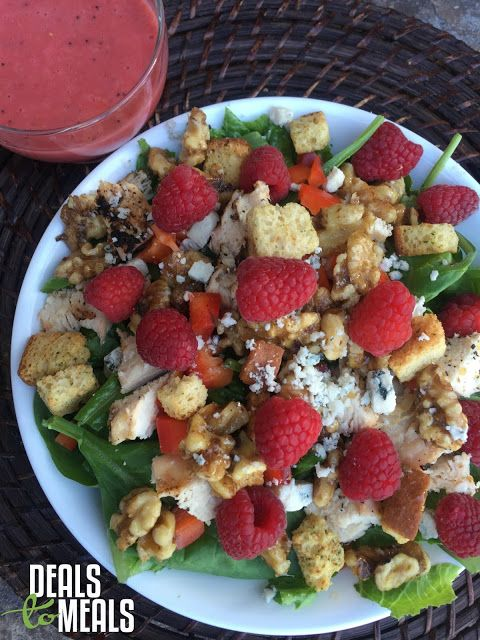 {Flashback Friday} Raspberry Spring Salad with Raspberry Vinaigrette by Deals to Meals