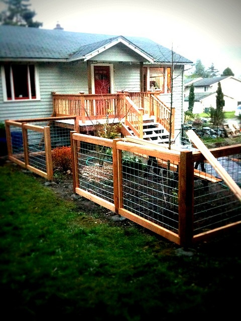 Fence With Hog Wire
