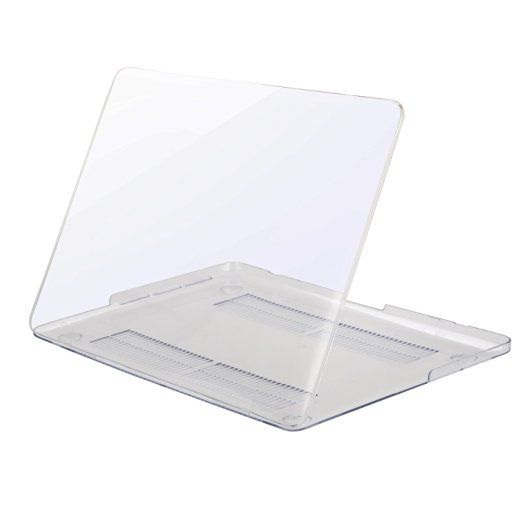 MOSISO Ultra Slim Plastic Hard Shell Snap On Case Cover for MacBook Pro 13 Inch with Retina Display (A1502/A1425) No CD-ROM Drive, Clear / Crystal