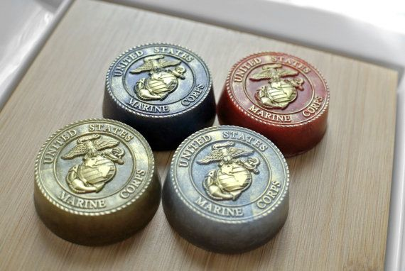 4 Military Soap / Soap with US Marine Corps Emblem от SkyRainSoap