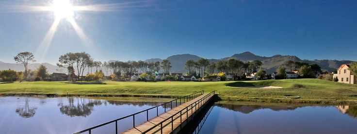 Boschenmeer Golf Course is situated on the Boschenmeer estate just outside the historic town of Paarl in the Cape Winelands. This course is a 27-hole parkland course intersected by the Berg River with many trees and great views of the Paarl mountains and of course the famous Paarl rock.