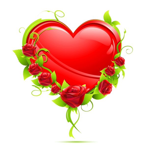 Heart with Rose Accent