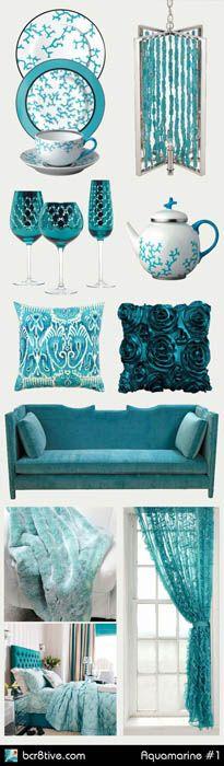 Яркий и жизнерадостный цвет Scuba Blue (Подводный Синий), хорошо подойдет на роль акцентов в интерьере. Хотя он и относится к категории холодных оттенков, его пронзительный цвет навевает ассоциации с летом, чистым небом и голубым морем. Его стоит вводить в интерьер при помощи небольших аксессуаров и текстиля.