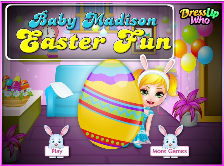 Baby Madison Easter Fun - Join our playful baby girl in getting the 'Baby Madison Easter Fun' game started and first of all pick out some yummy fruits and vegetables to lure the bunny out. Once in the forest, try to catch a fluffy bunny and bring it to Baby Madison before the time runs out. Next, you can help Baby Madison paint some colorful Eggs that she's going to use for her Easter party and then you're invited to attend a fun scavenger hunt with Baby Madison and all her friends.