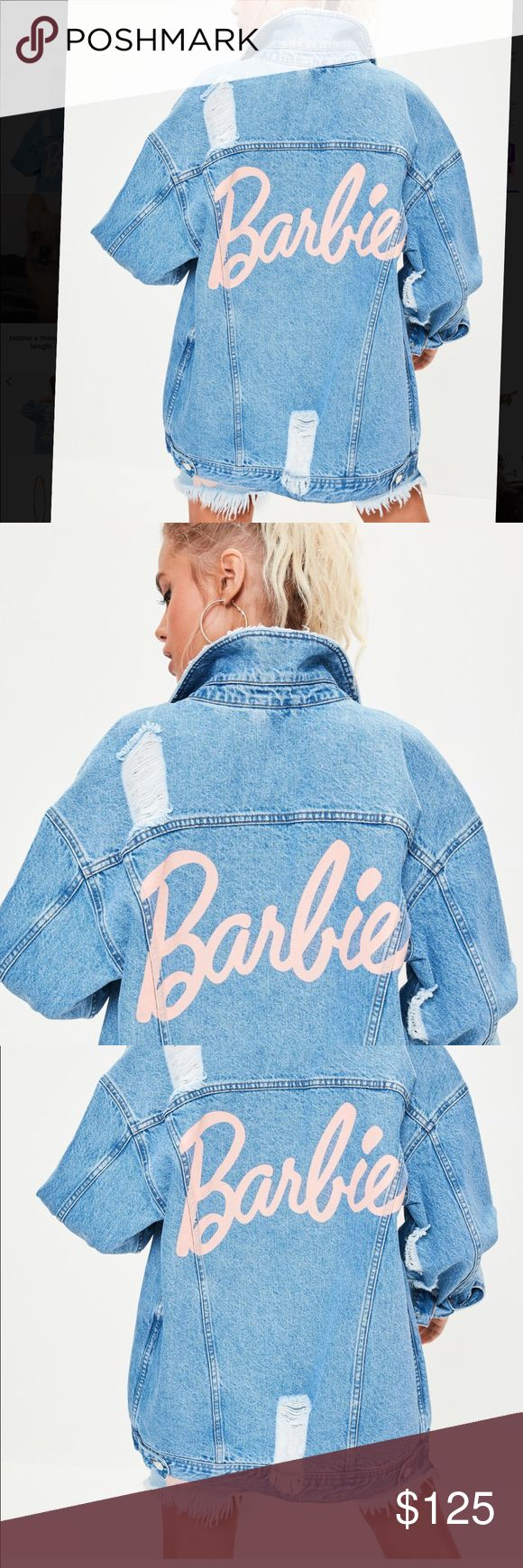 NWT MISSGUIDED X BARBIE denim jacket Brand new, keeps selling out online. From the MISSGUIDED X BARBIE collection. It's a denim over-sized jacket. This jacket is not true to fit. But this jacket is supposed to be over-sized. Very cute. The buttons and denim of are good quality and are sturdy when buttoning up. Size 6 US. Which is a medium according to their conversion chart online. Price is firm due to the expensive price I paid when it launched. Reg. Length not the long lines one. There's 2…