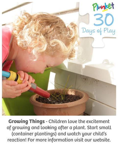 'Plant the seeds' of gardening with your child today in #30daysofplay