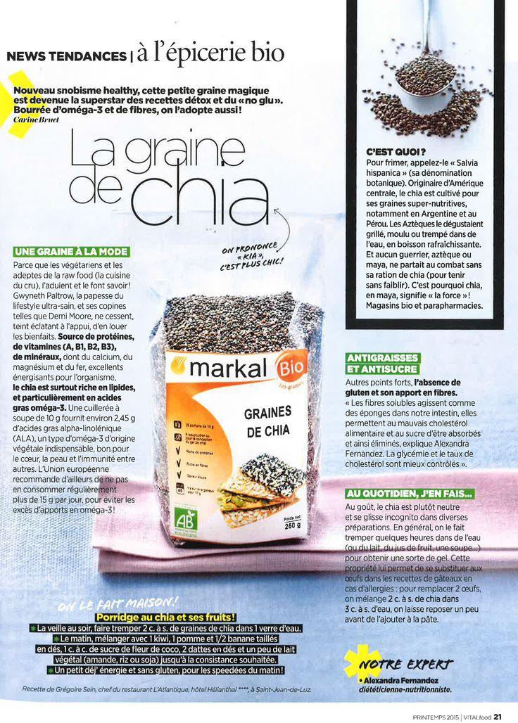 Avec Vital Food n°2, découvrez ce qu'est la graine de chia et comment l'utiliser ! #vitalfood2 #vitalfoodmagazine #bio #chia #graine #grainedechia