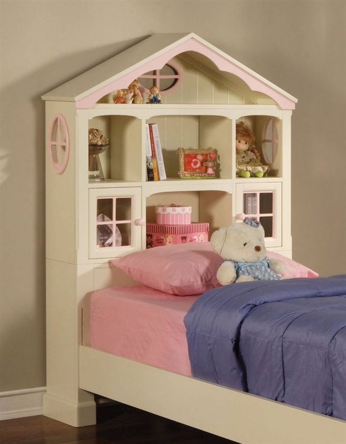 S Twin Size Bookcase Headboard In Pink White Dollhouse Collection