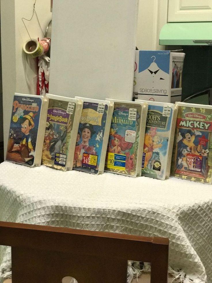 Rear Sealed Disney Vhs Lot Pooh,Mary poppin's little mermaid , jungle book, Mick
