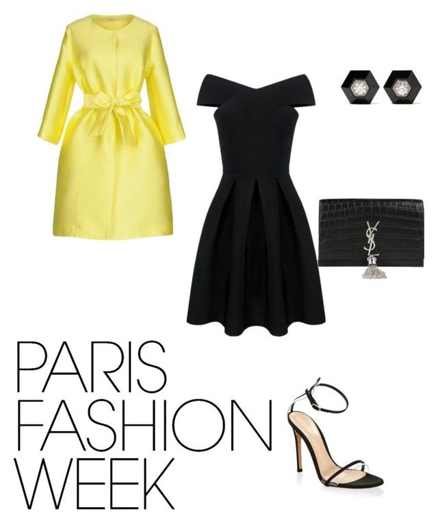 Ready for runway by ellam6320 on Polyvore featuring polyvore fashion style P.A.R.O.S.H. Gianvito Rossi Yves Saint Laurent Fred Leighton clothing parisfashionweek Packandgo