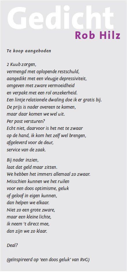 gedicht - Rob Hillz