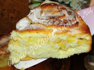 Пирог с яблоками «Шарлотка» (вариант №2) | Готовьте с нами