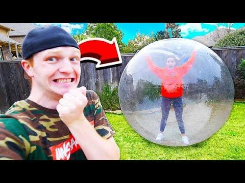 TRAPPING MY GIRLFRIEND IN A GIANT BUBBLE! - YouTube