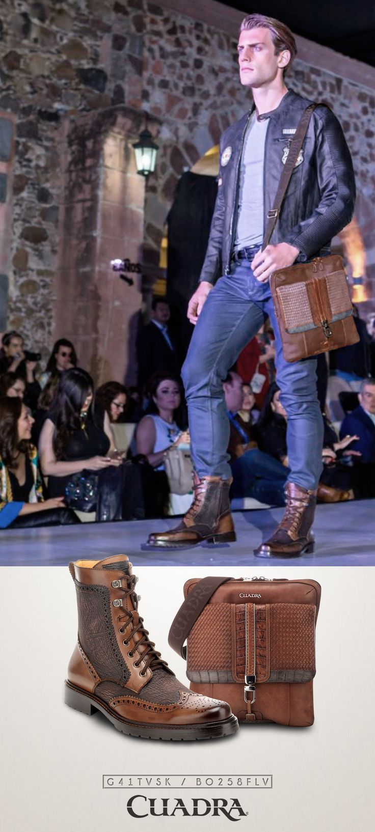 Cuando usas Cuadra se nota. #fashion #mensfashion #menswear #botas #ootd #boots #handbag #jacket #model #pasarela
