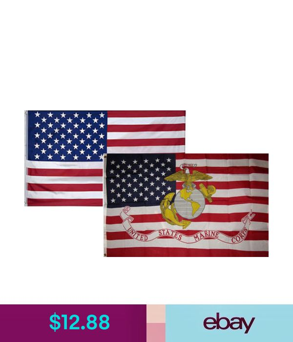 3x5 Wholesale Combo USA American /& USMC Marine Aviation Flag 3/'x5/' 2 Pack