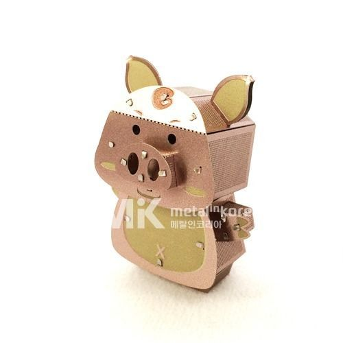 Metal In Korea Character Pig Actual Color 3D Innometal Steel Metal Model Puzzle #MetalInKorea3DInnoMetal