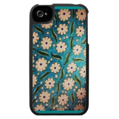 Ottoman iznik flower tile Iphone Case