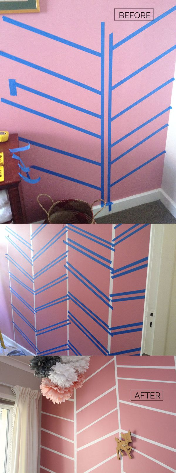 Birdie's nursery — feature wall before and after - megan nielsen design diary http://blog.megannielsen.com/2015/09/birdies-nursery/?utm_content=bufferb901f&utm_medium=social&utm_source=pinterest.com&utm_campaign=buffer