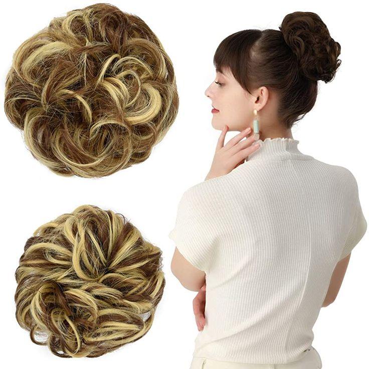 REECHO Women's Thick 2PCS Hair Scrunchies Made