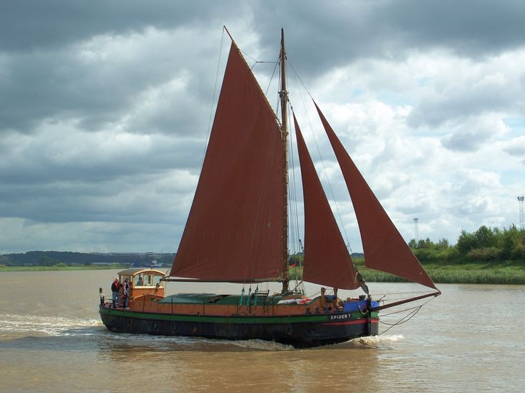 62ft Humber sloop Spider T, rescued and restored by Mal Nicholson and friends.