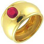 Anillo de oro 18K con rubí - 3000211