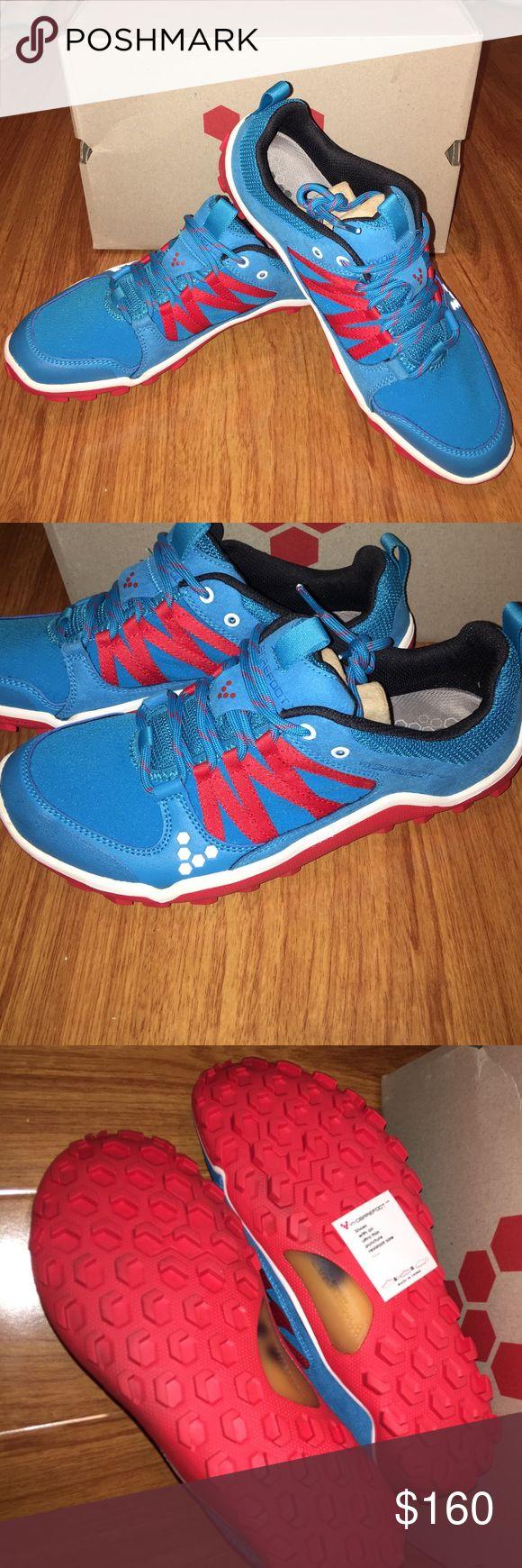 Brand new in box Vivobarefoot shoe Neo trail m blue/red hydrophobic mesh. 41 eu size Vivo barefoot Shoes Sneakers