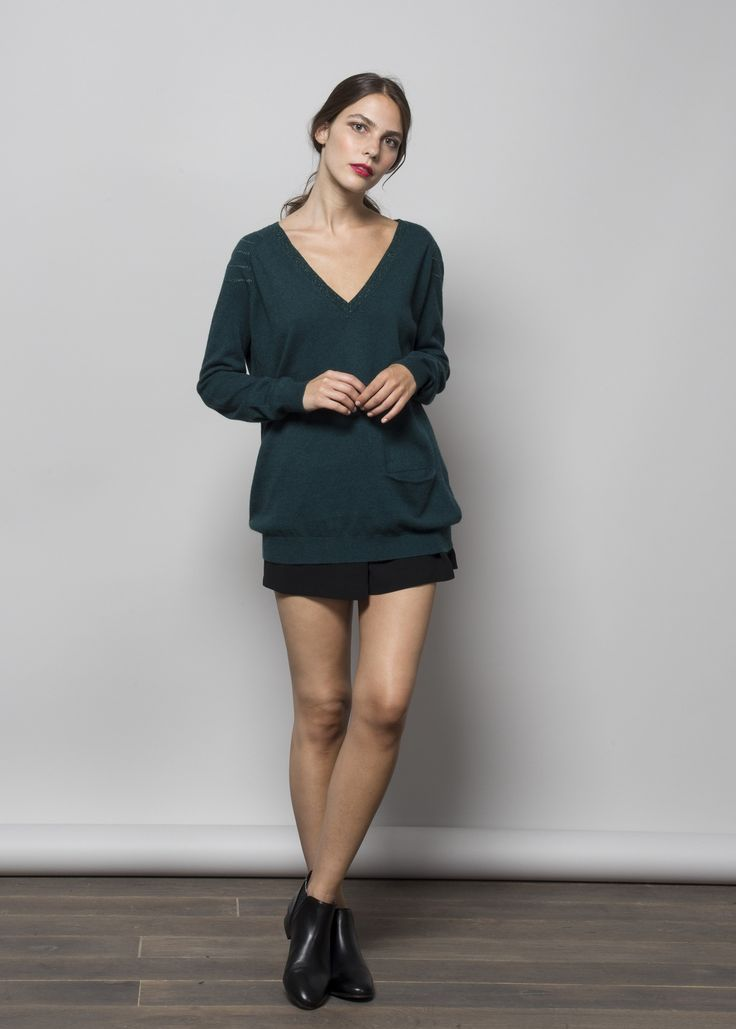 LOVE this pull en gris ou vert taille L