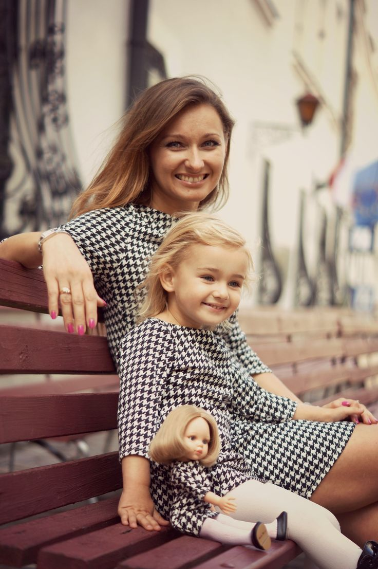 Original idea for mother daughter photo shoot. Matched dresses for mother daughter and doll. Doll that looks like your child.