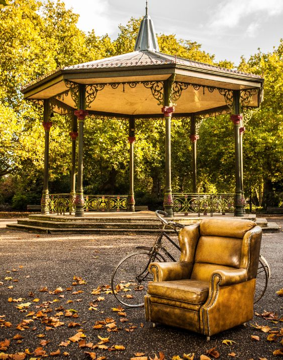 A shot we took in Battersa Park on a lovely crisp Autumn Day, with a lovely Bandstand in the background