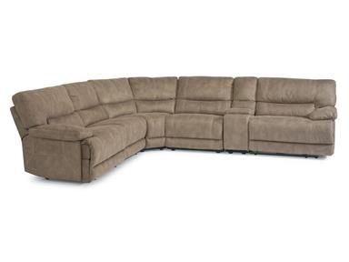 Shop+for+Flexsteel+Fabric+Power+Reclining+Sectional,+1458-SectP,+and+other+Living+Room+Sectionals+at+Kemper+Home+Furnishings+in+London+and+Somerset,+KY.+Extremely+generous+cushioning+and+legroom.+With+wide,+pillow-shaped+arms,+ample+padding,+and+a+supportive+channeled+back,+Delia+is+designed+for+you+and+your+family+to+pile+on+and+sink+in.